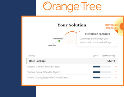 Create background check packages with Orange Tree